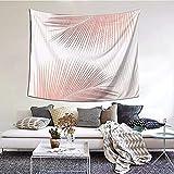 Sincronicidad de hoja de palma - Tapiz de oro rosa Tapiz de pared de boutique Tapiz de decoración del hogar estético 152 * 130cm
