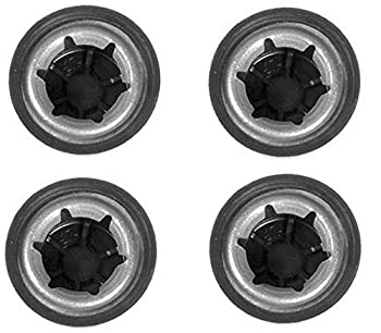Univen Push Nut Axle Caps .437  7/16   Compatible with Power Wheels Toy Cars and More 4 Pack