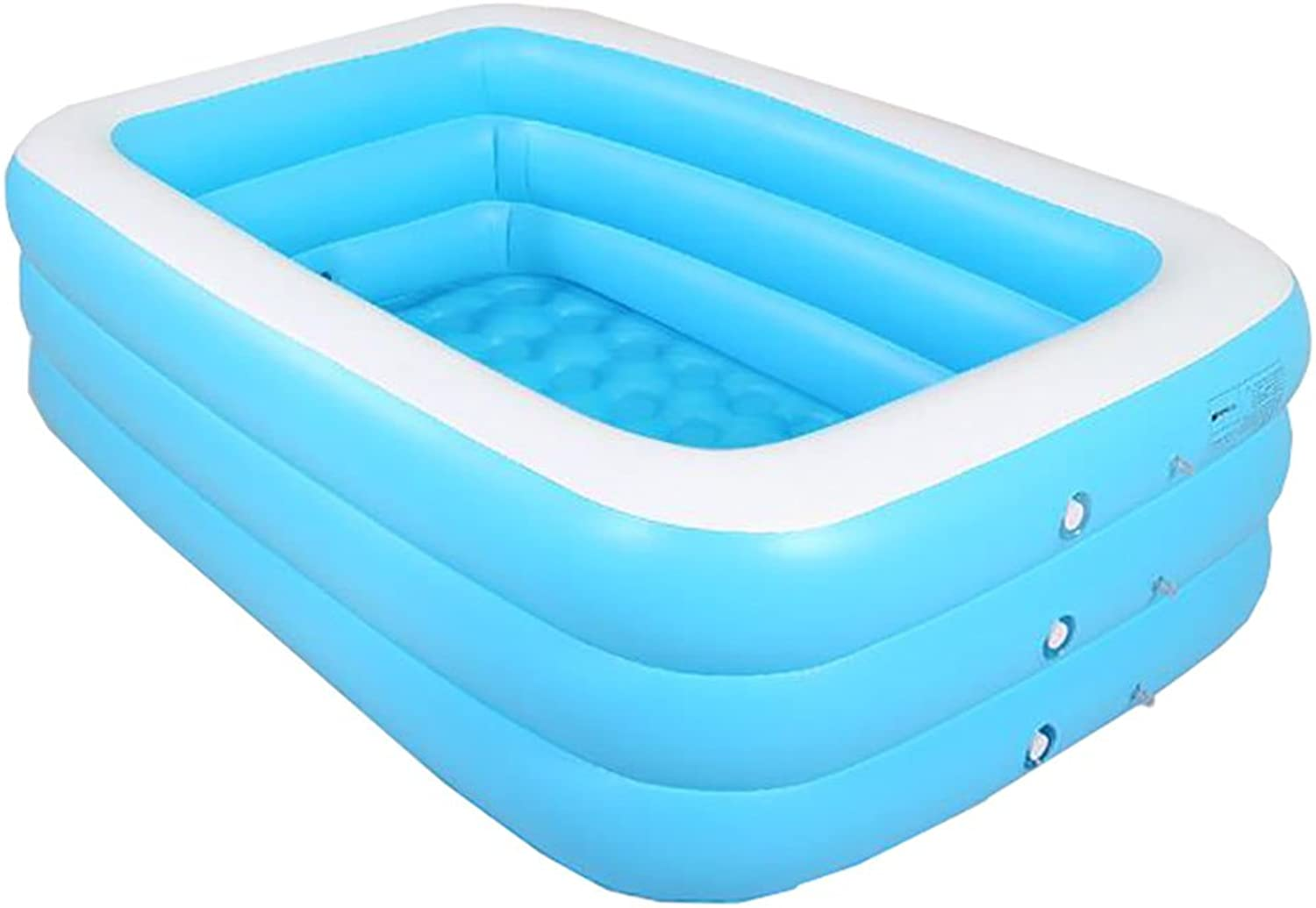 ZELIAN-Aerated Bathtub Bath Double Bath Home Adult Couple Electric Pump Inflatable Boy Baby Bath Tub Portable Folding bluee Thickened (Size   130cm)