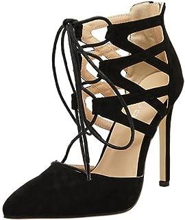c8b4aa3f818abc Damen Sandalen Stöckelschuhe 2018 Xinantime Rom Gladiator High Block Heels  Ankle Riemchen Lace UP Party Schuhe