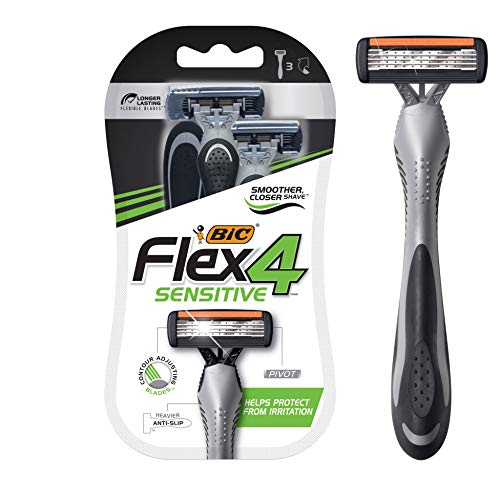 BIC Flex 4 Four Blade Disposable Razor for Men - 3ct