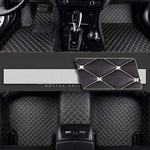 8X-SPEED Alfombrillas Coche de Cuero para For BMW Serie 5 E60 E61 2005-2009 Protección Alfombras de Cobertura Completa Antideslizante Moqueta Black Beige