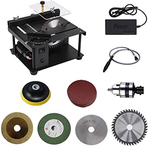 Angle grinders Handheld Tool, Multifunctional Table Saw for Household use, Cutting, polishing and Engraving Set, 200W, 35MM Cutting Depth Circular Saw Accessories for Builders and Woodworkers ( Color