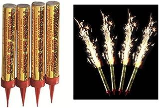 """4 bougies d'ambiance """" fontaine d'artifice"""" pour gâteau d'anniversaire, durée 60 secondes"""