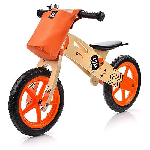 meteor Bici Senza Pedali Bicicletta Equilibrio Bambino Balance Bike - carico massimo 30 kg (bambini, JOY RIDE orange)
