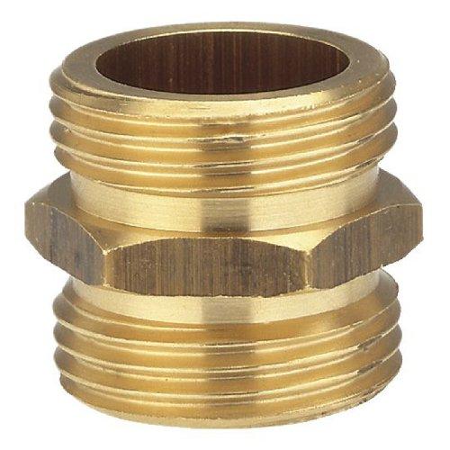 Gardena 7261-20 messing schroefdraad-tip: messing aansluitstuk voor een dubbelzijdige aansluiting op bijv. pompen, buisdraad 33,3 mm (G 1