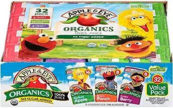 32-Count Apple & Eve Sesame Street Organics Juice Box Variety Pack