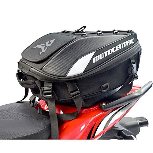 VISPREA オートバイ リュック サック アウトドア 撥水 ツーリング レインカバー付き シートバッグ バックパックヘルメットバッグ バイク用 多機能 防水 耐摩 MC0102 (灰)