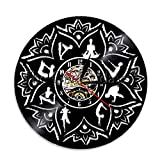 Yoga Mandala Clock Chakra Led Light Roowood lámpara de mesa lámpara de mesa lámparas de mesa lámpara de mesa de batería