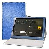LFDZ Funda Lenovo Yoga Smart,Soporte Cuero con Slim PU Funda Caso Case para 10.1' Lenovo Yoga Smart Tab YT-X705F Tablet,Azul