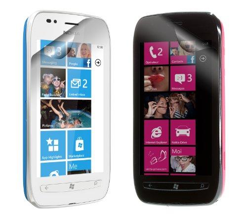 Works With Nokia - Protector de pantalla para Lumia 710 (2 unidades), color transparente