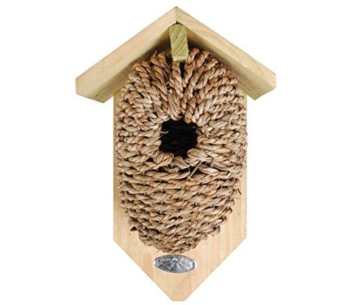Dehner Natura Kadlin-nestzak voor wilde vogels, diameter 35 mm, ca. 26 x 14 x 10 cm, hout/zeewier