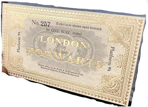 Harry Potter Hogwarts Express Réplica Entradas De Tren Oro Brillante Escritura Reino Unido