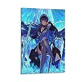 yanhony Póster de Akame Ga Kill Esdeath Anime Girl 6 Lienzo artístico y arte de pared impreso moderno para decoración de dormitorio familiar 60 x 90 cm