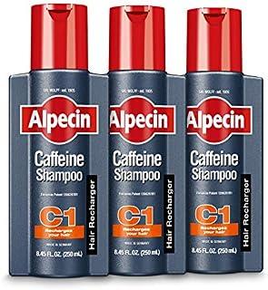 Alpecin C1 Caffeine Shampoo, Men's Natural Hair Growth Shampoo for Thinning Hair with Niacin and Castor Oil (Pack of 3), ...