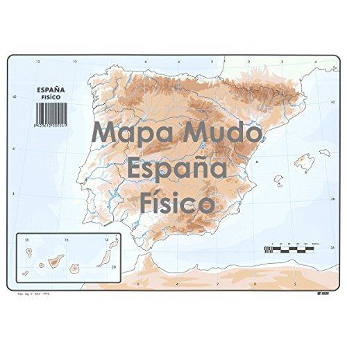 Mapa Mudo SELVI Color Din-A4 España Físico, Caja x50
