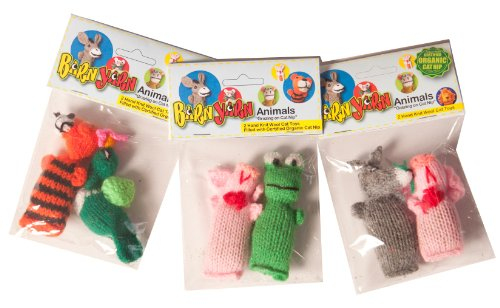 Chilly Dog 2-Pack Barn Yarn Animal Catnip Toy, Model: 1002