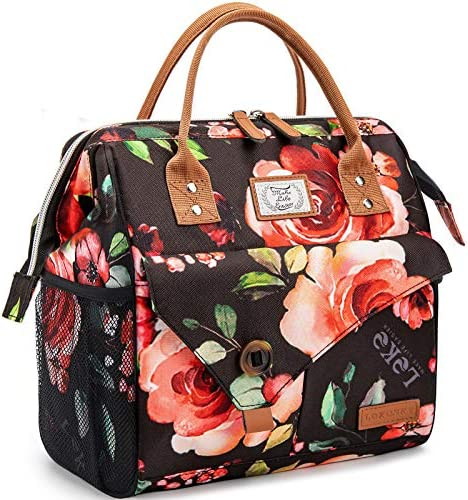 Lekesky Lunch Bag for Women Insulated Lunch Box for Work Tote Lunch Bag Adult Cooler Bag Floral product image
