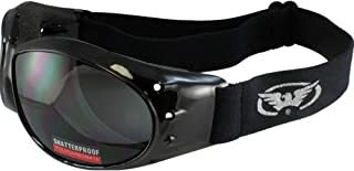 Global Vision Eliminator Goggles Motorcycle Padded Eyewear Smoked Tint Lenses These are Specially Made to Keep Dust and Wind Out of Your Eyes