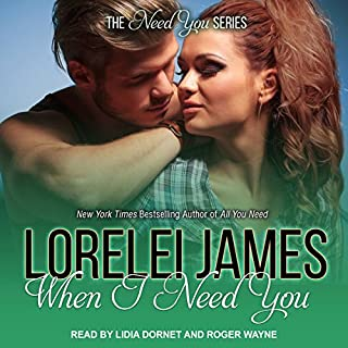 When I Need You     The Need You Series              Written by:                                                                                                                                 Lorelei James                               Narrated by:                                                                                                                                 Roger Wayne,                                                                                        Lidia Dornet                      Length: 9 hrs and 20 mins     1 rating     Overall 5.0