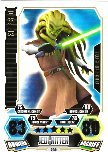 STAR WARS FORCE ATTAX SERIE 3 CLONE WARS - FORCE MEISTER - Nr. 230 KIT FISTO - NEU