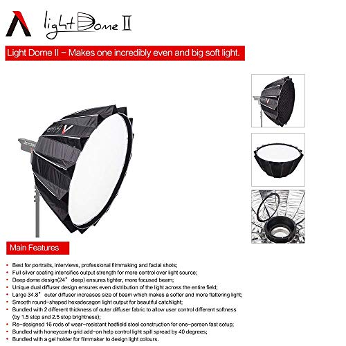 Aputure Light Dome II Softbox 35 Inch Deep Octagon Softbox for Aputure 300X Aputure 120D II Aputure 300D II 120D 120T, and Other Bowen-S Mount Lights