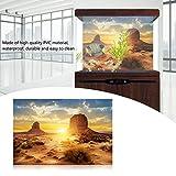 Sheens Sol y Desierto Estilo Acuario Fish Tank Poster Espesar PVC Adhesivo Terrario Telón de Fondo Estático Pegatina Wallpaper Wallpaper (61 * 30cm)