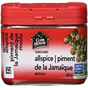 Club House, Quality Natural Herbs & Spices, Ground Allspice, Plastic Can, 35g
