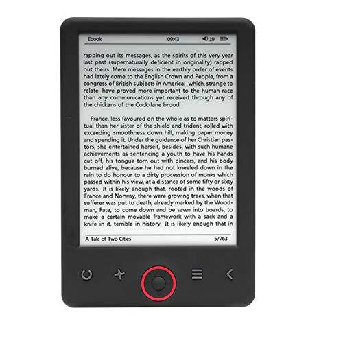 Denver EBO-625 Lettore e-book con pannello da 6 pollici di grado A. Memoria da 4 GB + scheda MicroSD per ulteriore spazio di archiviazione. Compatibile con Adobe DRM