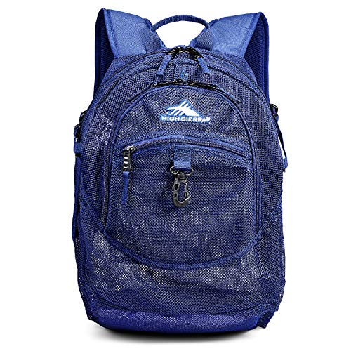 High Sierra Airhead Mesh Backpack, 19.5 x 13 x 7-Inch, True Navy