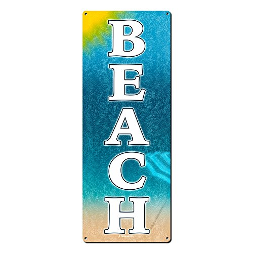 Alamazookie Beach Theme Decor ~ Metal Sign ~ Home Wall Decor for Ocean Lovers, Teenagers, Dorm Room, Cottage, Housewarming & Gifts