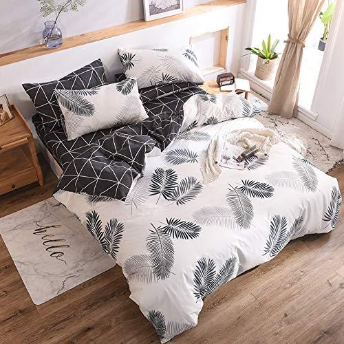 N-A Bettwäsche-Sets Bett Vierer-Set Baumwolle Baumwolle Einfache Bettlinie Covern Sheet 220 x 230 cm S Bettwäsche 230 x 230 cm Plus Kissenbezug 50 x 75 cm x 2 1
