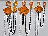 Solwet Manual Chain Block Hoist 2 TON Lifting Height 3 Meter