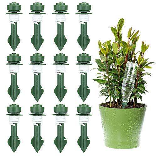 Bearbro Sistema de riego automático,12 Piezas de regador de Plantas,Riego por Goteo Automático Kit,Dispositivos de riego automático de Plantas,para Jardín Bonsáis,Flores,Plantas Interior y Exterior