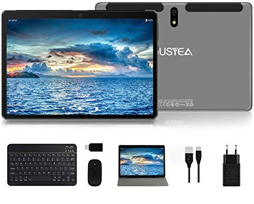 Tablet 10 Pulgadas Android 10.0 Tableta Ultra-Portátiles - RAM 4GB | 64GB Expandible (Certificación Google gsm) -JUSYEA - Batería de 8000mAh - WiFi —Ratón | Teclado y Otros - Gris