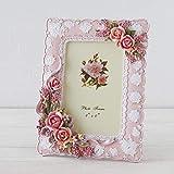 アクロスシーズ フォトフレーム 写真立て 縦/横置き対応 プリンセスローズ (ピンク)