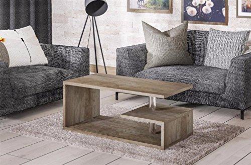 Endo Couchtisch Mio Wohnzimmertisch 100x55cm Modern Tisch Ablage 100cm Design // Eiche Monument