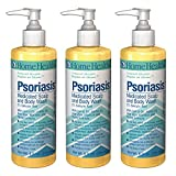Home Health Psoriasis Medicated Scalp & Body Wash (3 Pack) - Salicylic Acid, 8 fl oz - Relieves Itching, Redness & Irritation from Dandruff & Seborrheic Dermatitis - Non-GMO, Paraben-Free, Vegetarian