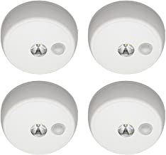 Mr. Beams MB984 Wireless Battery Operated Indoor/Outdoor Motion Sensing LED Ceiling Light, White, 4-Pack