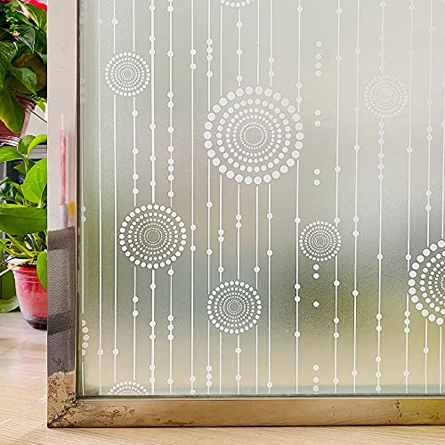 LMKJ Película de Ventana Mate 3D Privacidad Vidrieras de Vinilo Película autoadhesiva Etiqueta de Ventana de Aislamiento térmico Esmerilado para Puerta de casa A10 45x100cm