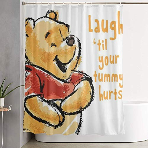 Winnie The Pooh Laugh Shower Curtain Decor for Men Women Boys Girls 60x72 in