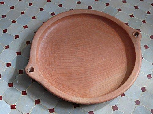 Marokkanische Tajine -Pfanne zum Kochen unglasiert Ø 35 cm - ohne Deckel - 905754-0002