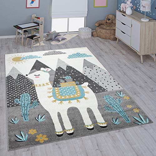 Paco Home Kinderteppich Teppich Kinderzimmer Mädchen Jungs Verschiedene Motive Und Größen, Grösse:133x190 cm, Farbe:Mehrfarbig