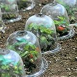 Lot De 5 Cloches De Jardin En Plastique Réutilisables, Protection Contre Le Gel, Cloches Bell Jar Originales Pour Plantes En Plein Air Et Jardin, 25x20cm, Transparent
