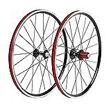 LSRRYD 20'Bicicleta Plegable Juego Ruedas 451 Llanta Freno De V Ruedas Liberación Rápida Buje 24H para 7/8/9/10 Velocidades Cassette 1442g