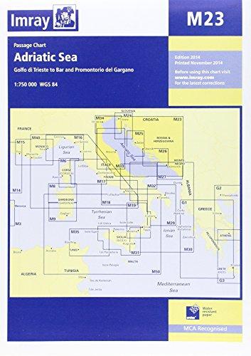 Imray Chart M23: Adriatic Sea Passage Chart; Golfo Di Trieste to Bar and Promontorio Del Gargano