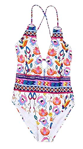 Inception Pro Infinite Costume Intero da Bagno Femmina - Donna - Mare - Sexy - Femminile - Ragazza - Fiori - Vintage - MultiMisura XL - Floreale - Idea Regalo Originale