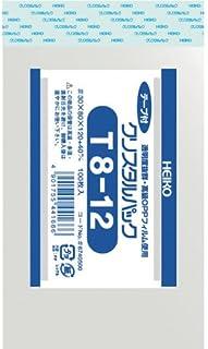 透明袋 OPPクリスタルパック T8-12 100枚入 <サイズ:厚み0.03mm 幅8×高12+4cm>