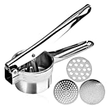 Stainless Steel Potato Ricer – Manual Masher for Potatoes, Fruits, Vegetables, Yams, Squash, Baby...