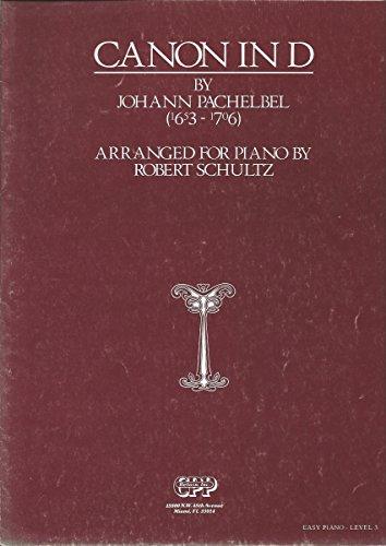 PACHELBEL CANON IN D (Piano Solo) - Easy Piano, Level 3